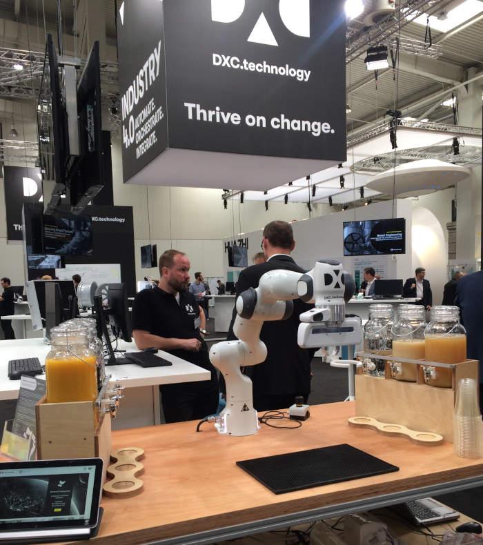 Stand der DXC Technology auf der CeBIT